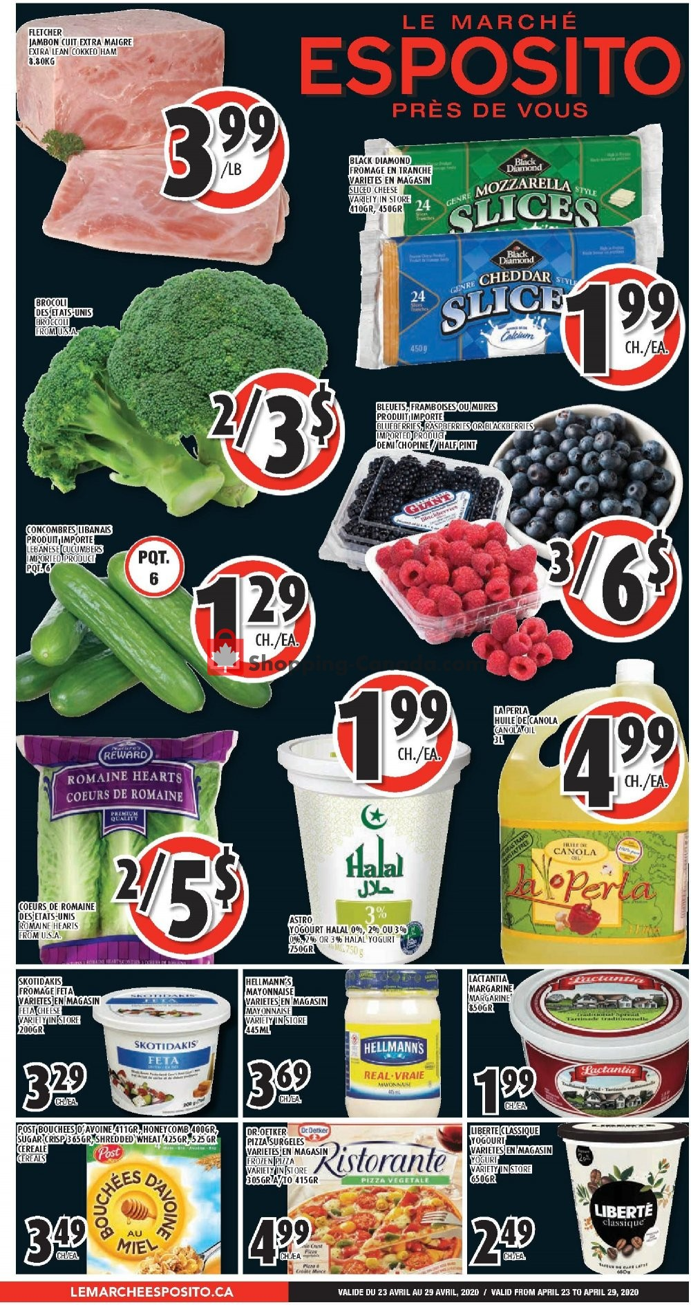 Flyer Le Marché Esposito Canada - from Thursday April 23, 2020 to Wednesday April 29, 2020