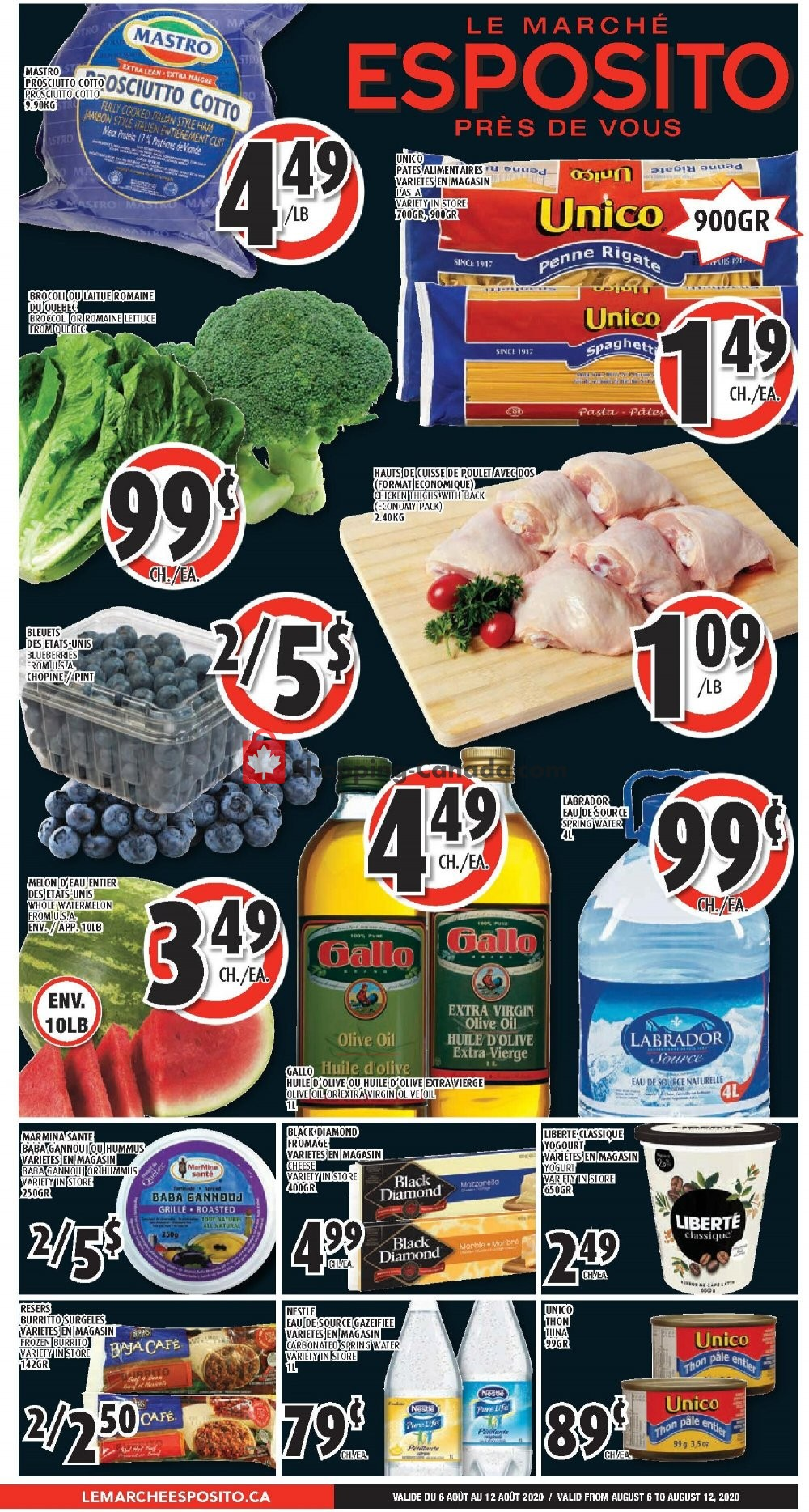 Flyer Le Marché Esposito Canada - from Thursday August 6, 2020 to Wednesday August 12, 2020