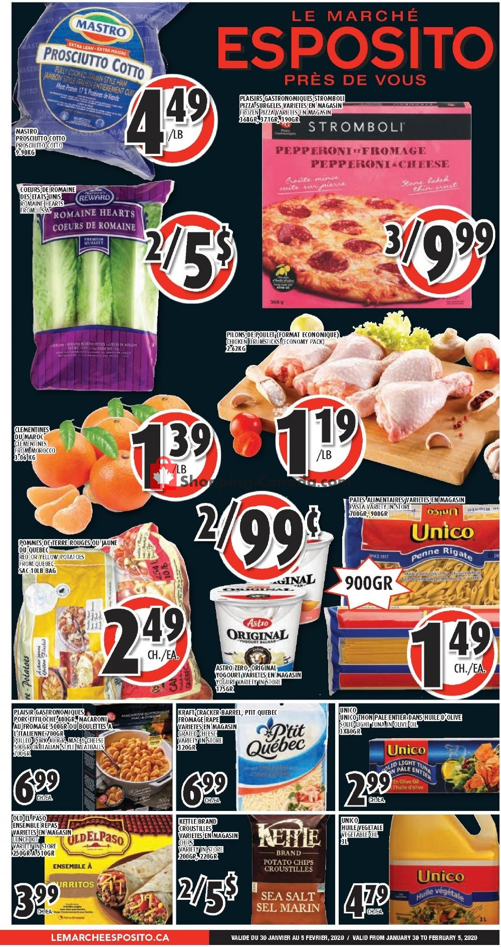 Flyer Le Marché Esposito Canada - from Thursday January 30, 2020 to Wednesday February 5, 2020
