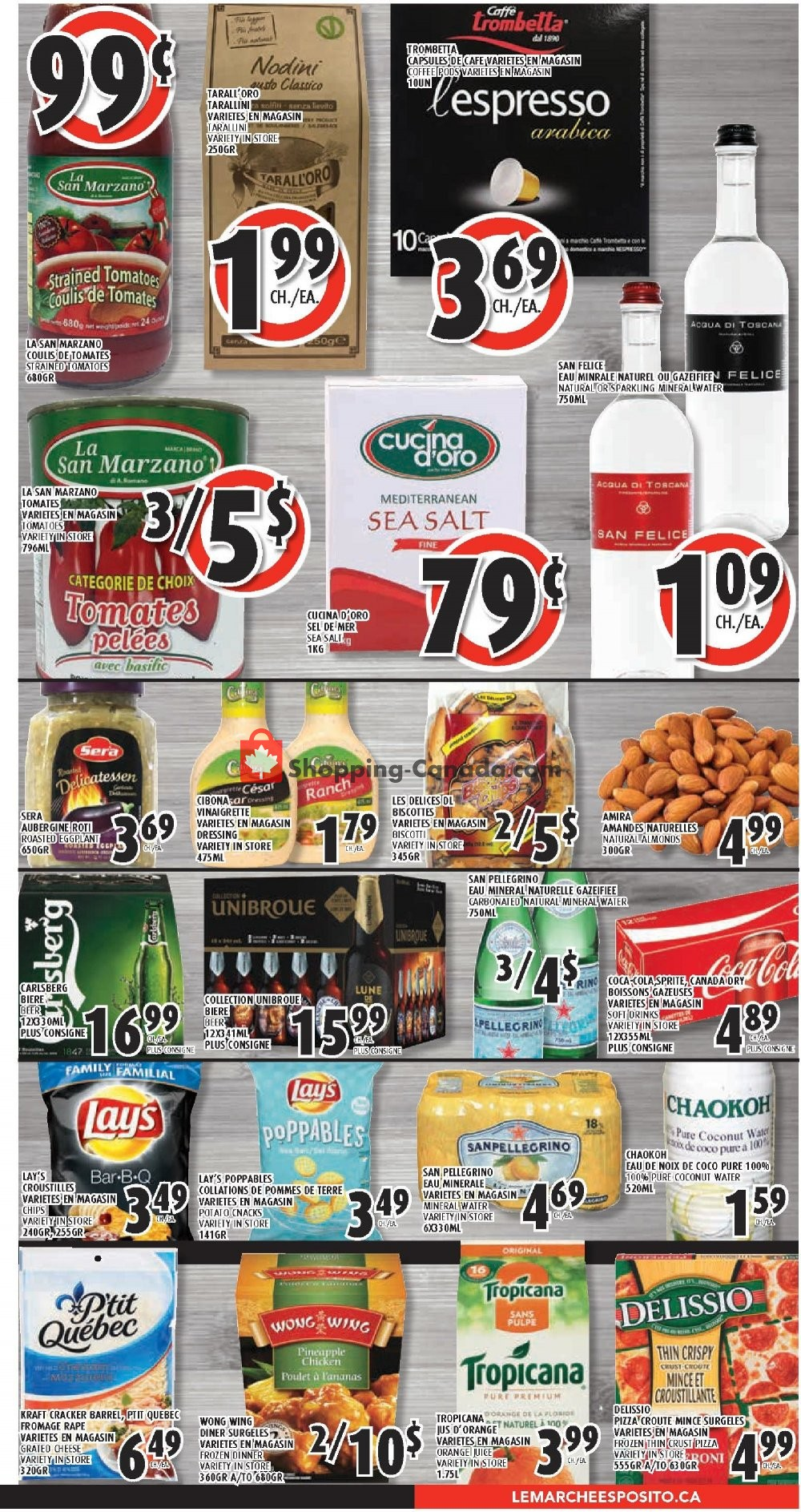Flyer Le Marché Esposito Canada - from Thursday July 11, 2019 to Wednesday July 17, 2019
