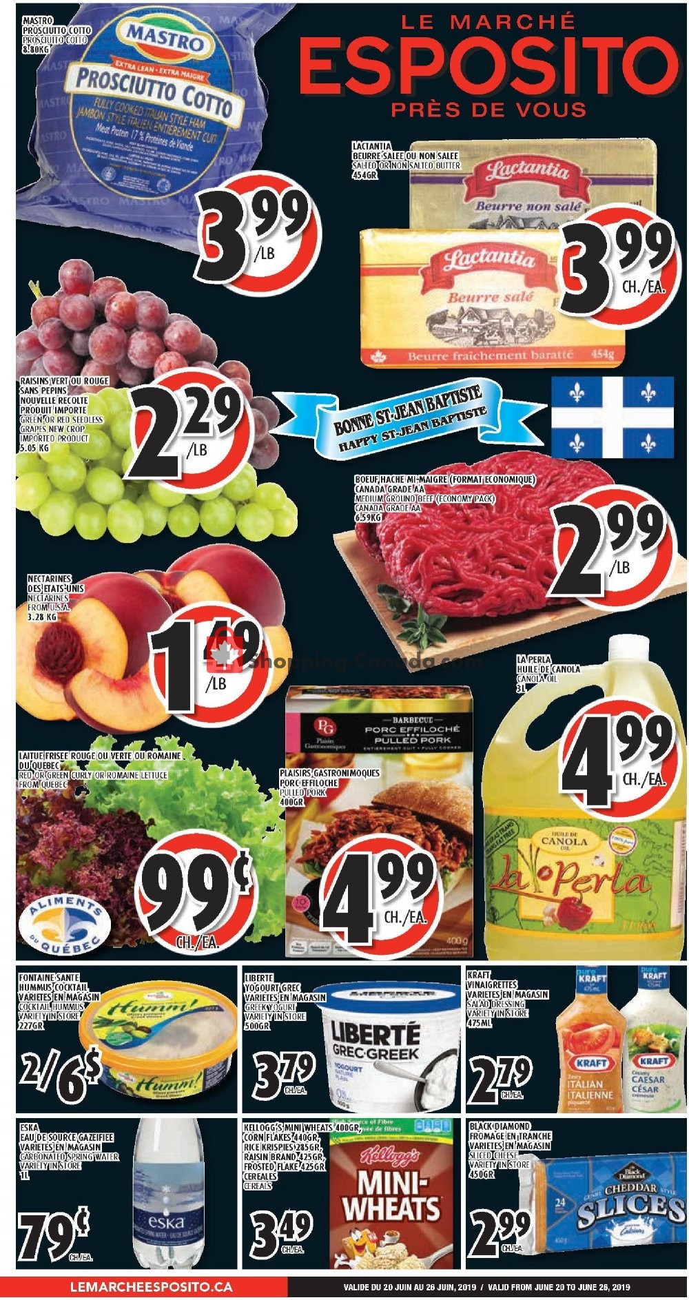 Flyer Le Marché Esposito Canada - from Thursday June 20, 2019 to Wednesday June 26, 2019