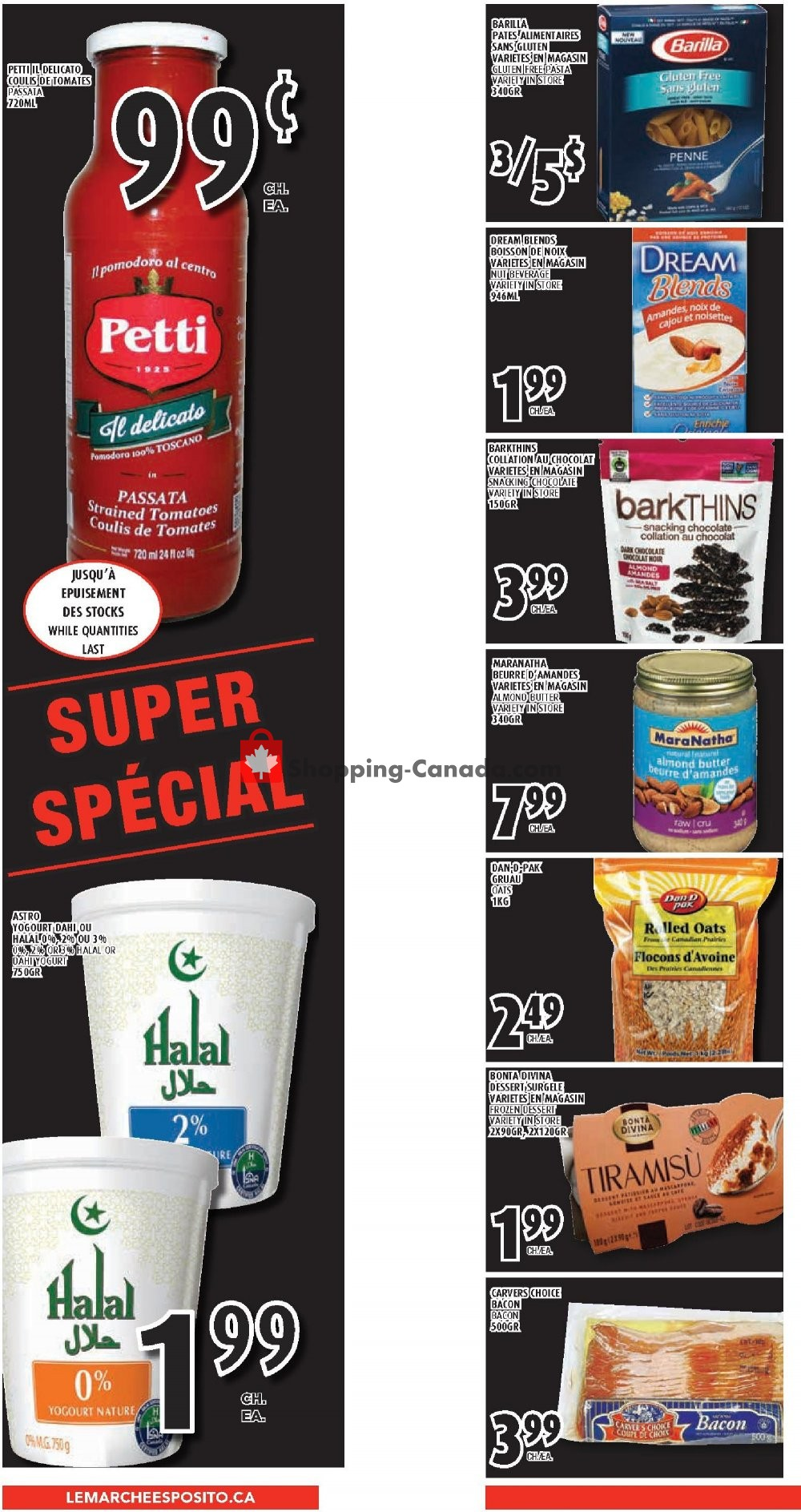 Flyer Le Marché Esposito Canada - from Thursday March 7, 2019 to Wednesday March 13, 2019