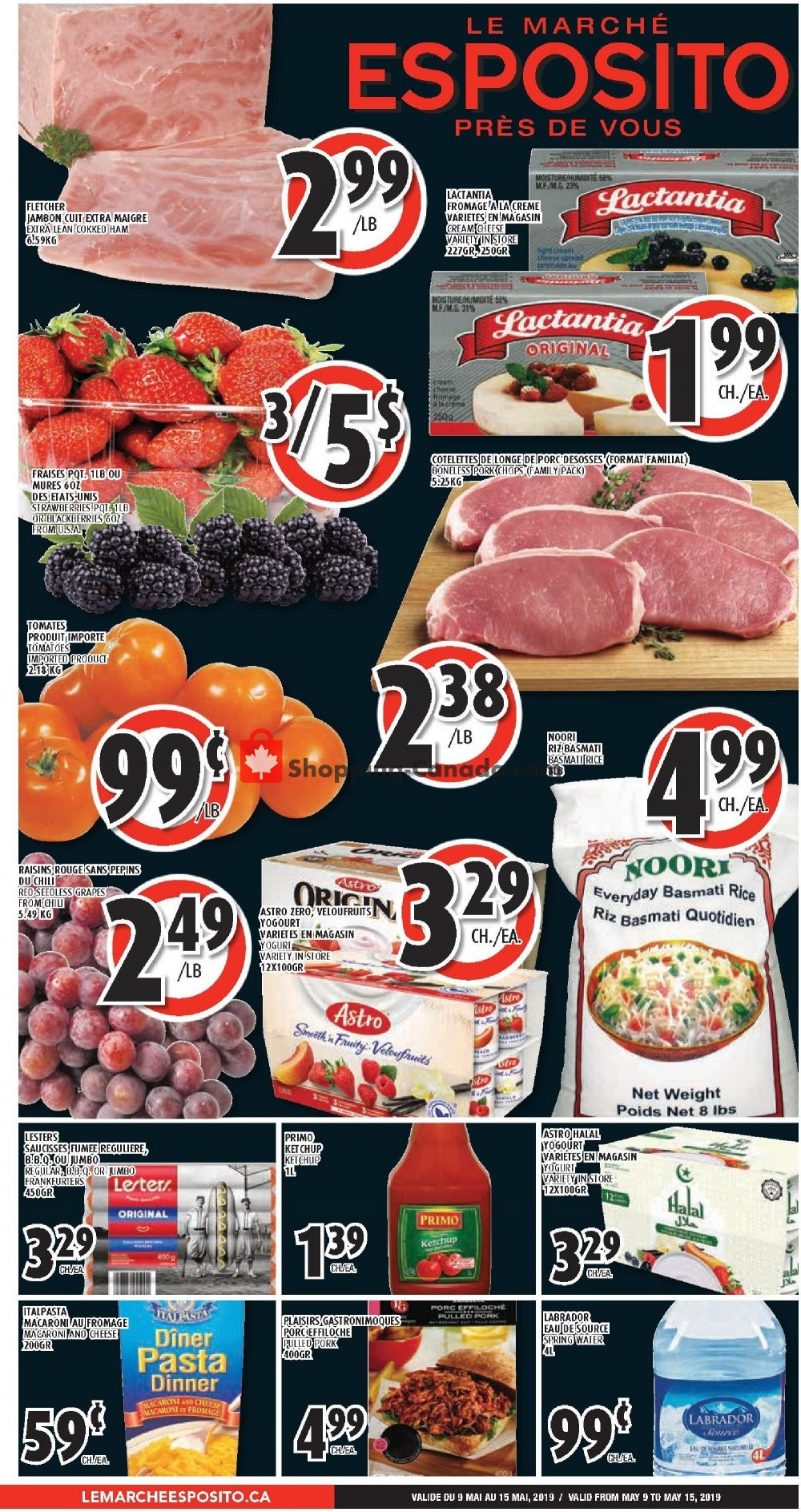 Flyer Le Marché Esposito Canada - from Thursday May 9, 2019 to Wednesday May 15, 2019