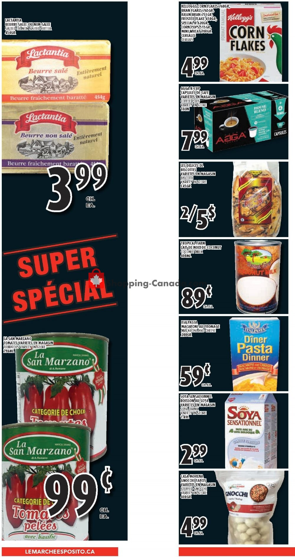 Flyer Le Marché Esposito Canada - from Thursday April 11, 2019 to Wednesday April 17, 2019