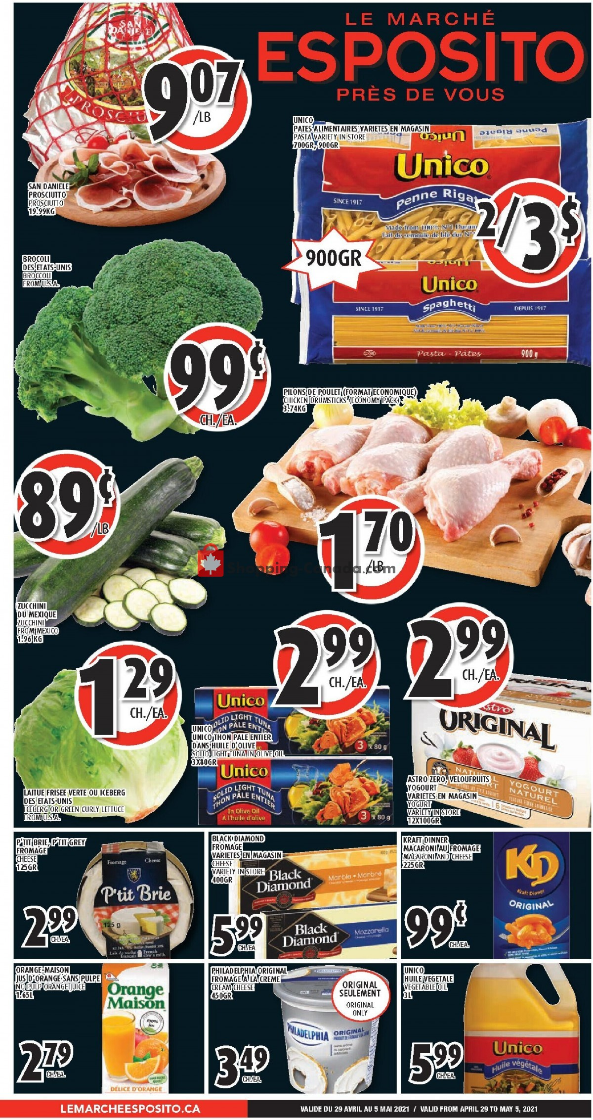 Flyer Le Marché Esposito Canada - from Thursday April 29, 2021 to Wednesday May 5, 2021