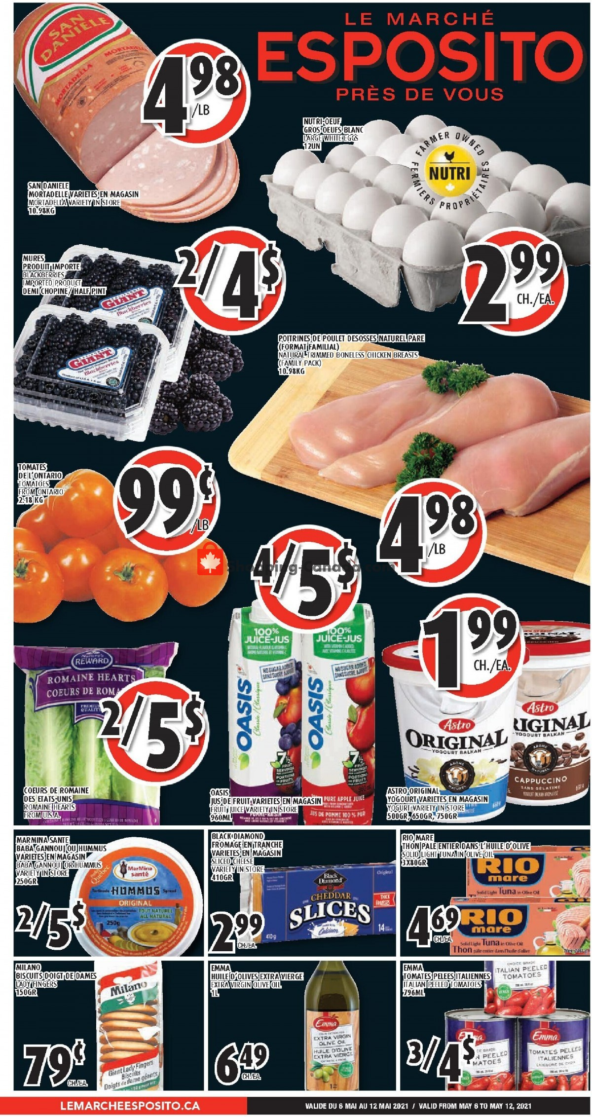 Flyer Le Marché Esposito Canada - from Thursday May 6, 2021 to Wednesday May 12, 2021