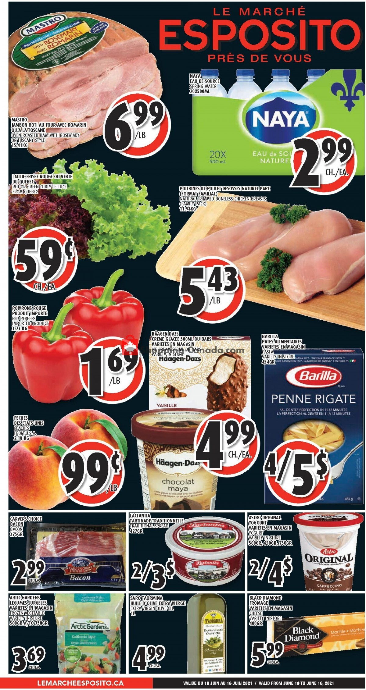 Flyer Le Marché Esposito Canada - from Thursday June 10, 2021 to Wednesday June 16, 2021