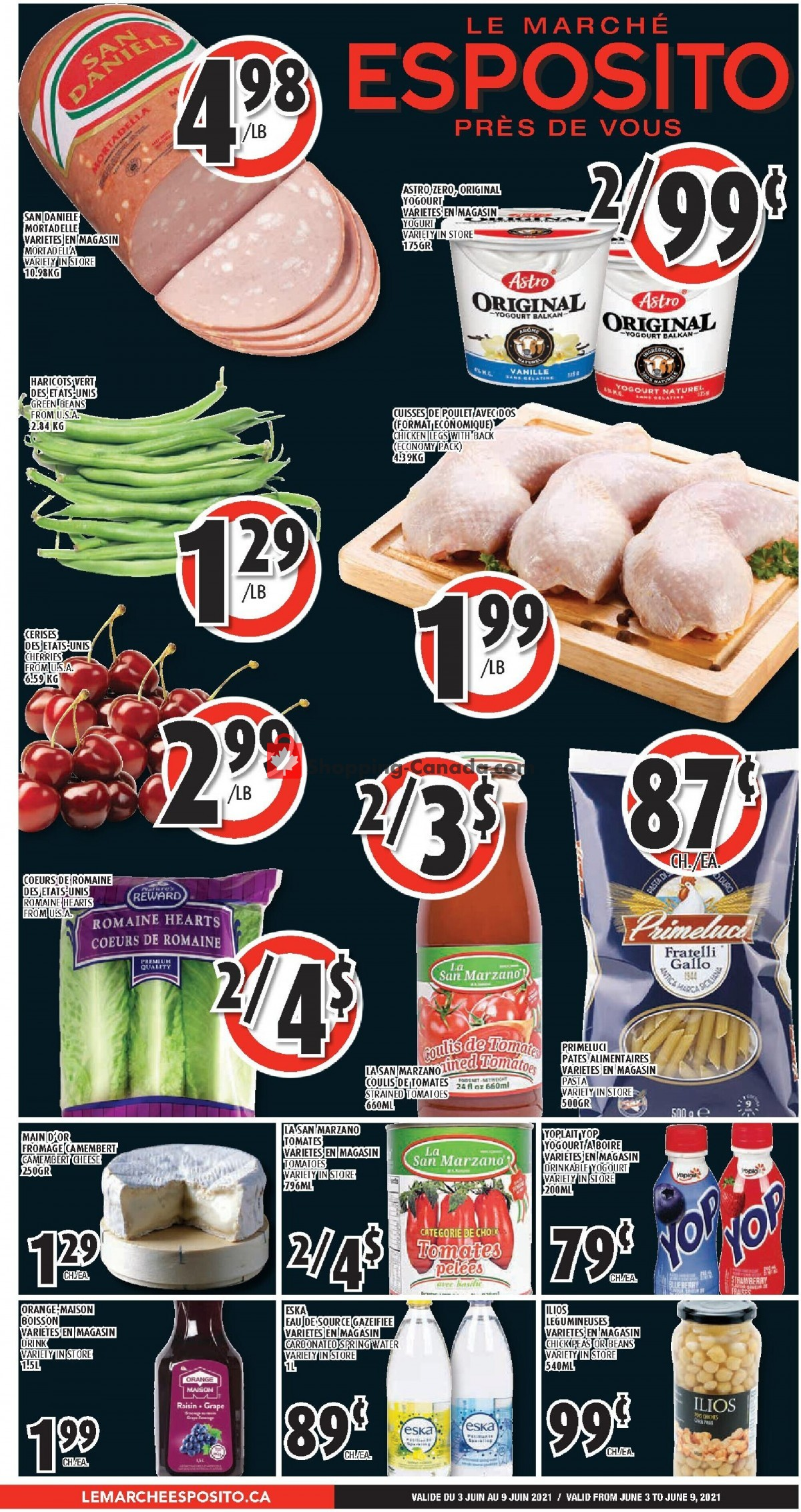 Flyer Le Marché Esposito Canada - from Thursday June 3, 2021 to Wednesday June 9, 2021