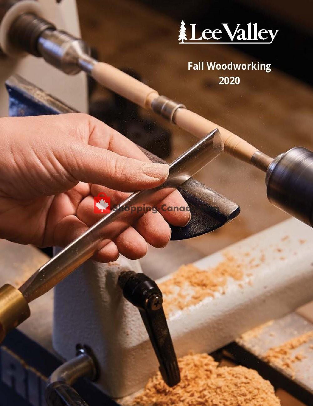 Flyer Lee Valley Tools Ltd Canada - from Thursday October 1, 2020 to Saturday October 31, 2020