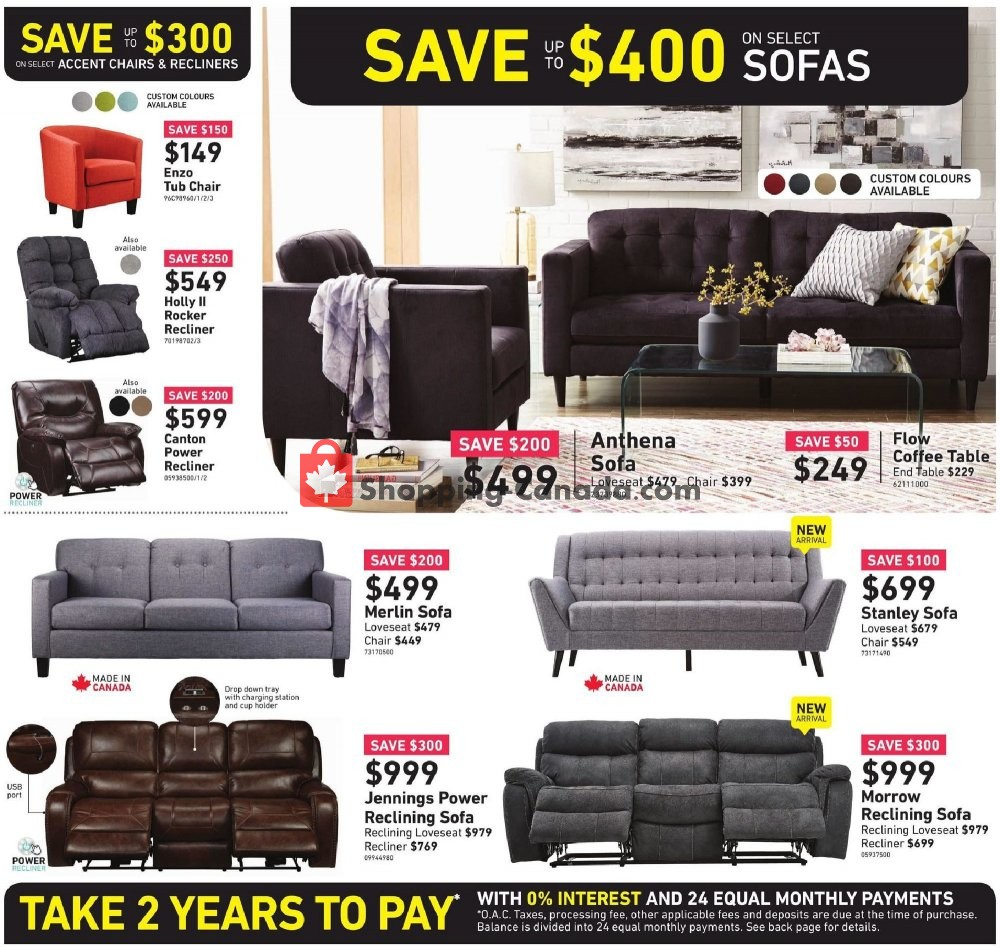 Flyer Leon's Furniture Canada - from Thursday January 9, 2020 to Wednesday January 22, 2020