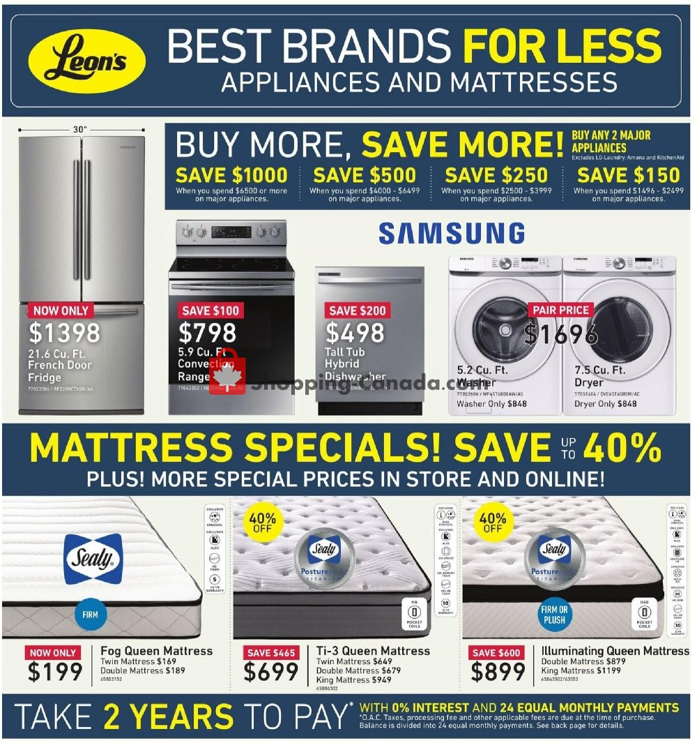 Flyer Leon's Furniture Canada - from Thursday October 15, 2020 to Wednesday October 28, 2020