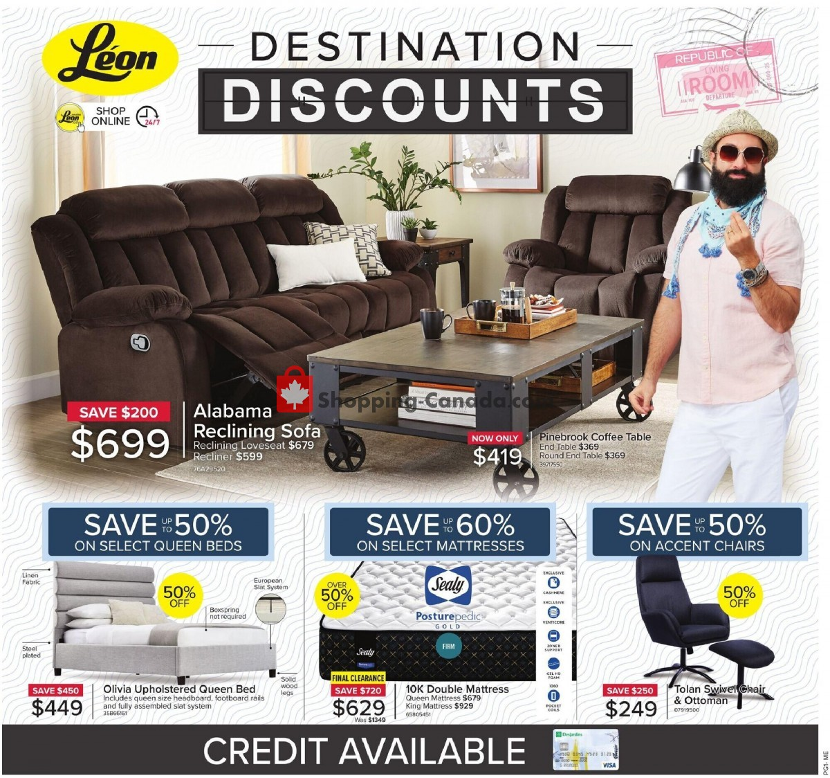 Flyer Leon's Furniture Canada - from Thursday May 6, 2021 to Wednesday May 19, 2021