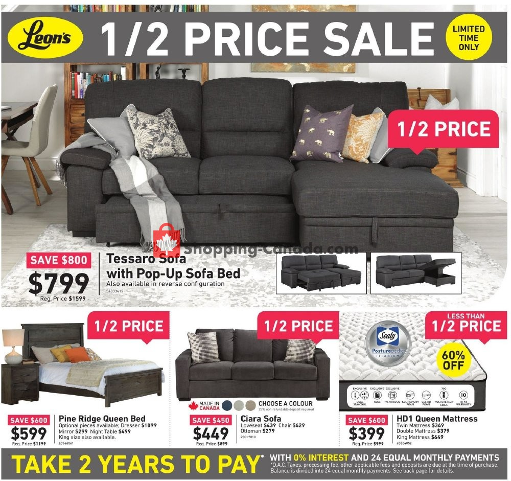 Flyer Leon's Furniture Canada - from Thursday August 1, 2019 to Tuesday August 13, 2019