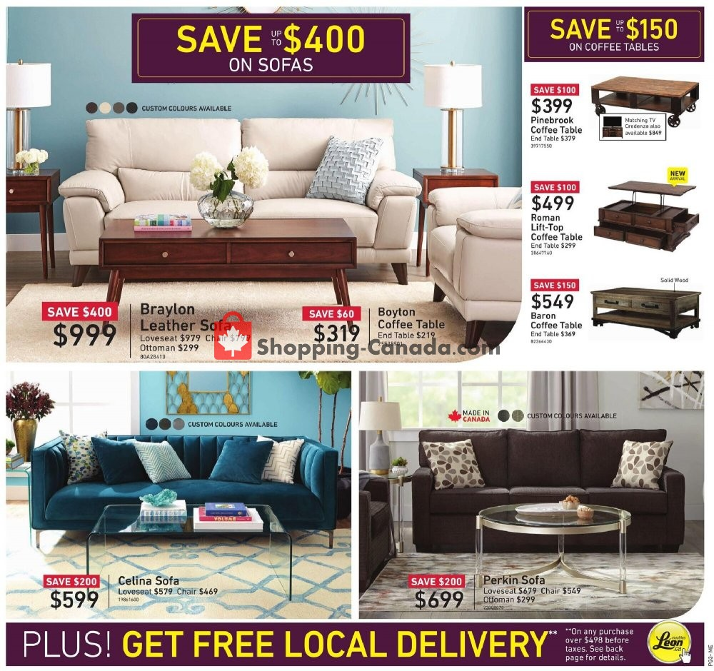 Leon S Furniture Canada Flyer Managers Sale Qc October 15 October 28 2020 Shopping Canada