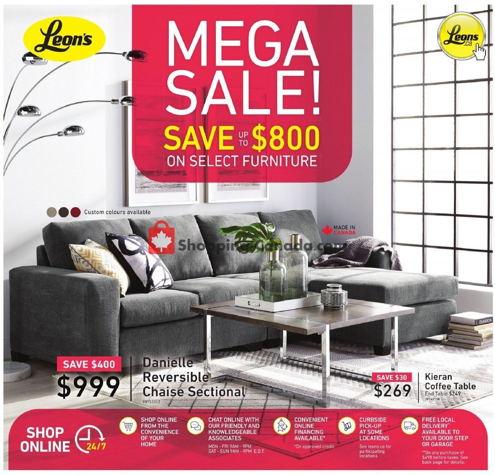 Flyer Leon's Furniture Canada - from Thursday May 28, 2020 to Wednesday June 3, 2020