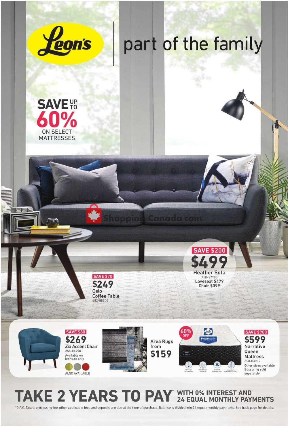 Flyer Leon's Furniture Canada - from Thursday February 7, 2019 to Wednesday February 20, 2019
