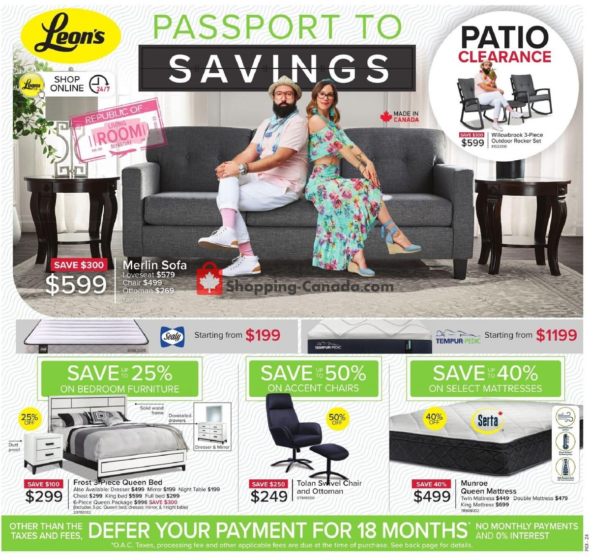 Flyer Leon's Furniture Canada - from Thursday July 15, 2021 to Sunday July 25, 2021
