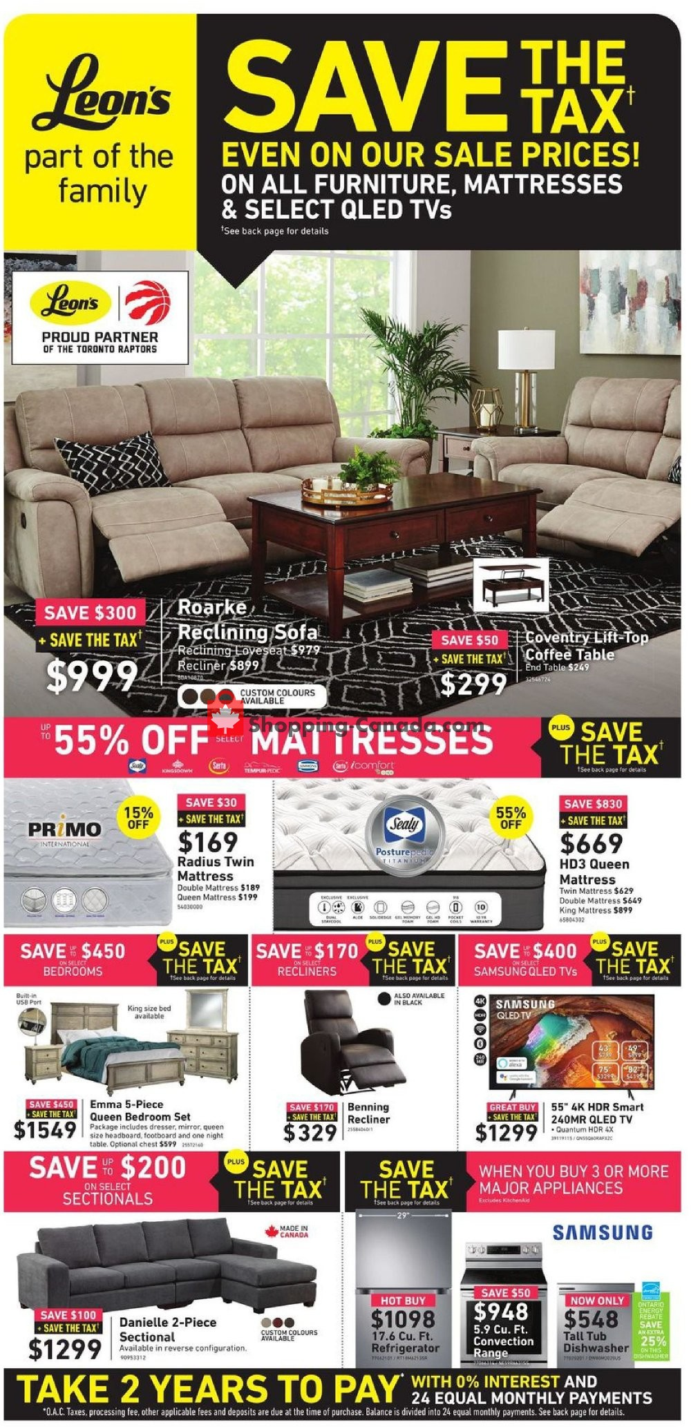 Flyer Leon's Furniture Canada - from Wednesday October 2, 2019 to Wednesday October 16, 2019