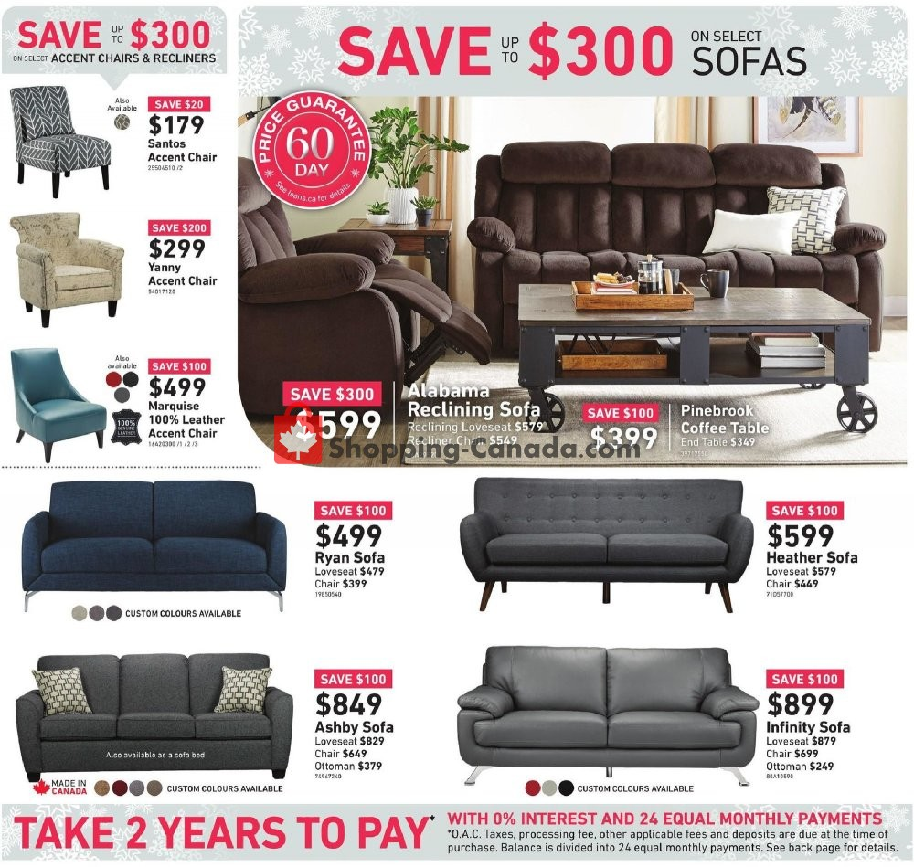 Flyer Leon's Furniture Canada - from Thursday November 7, 2019 to Wednesday November 20, 2019