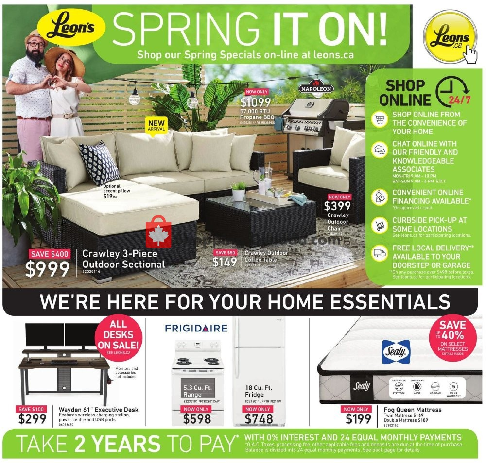 Flyer Leon's Furniture Canada - from Thursday April 30, 2020 to Thursday May 28, 2020