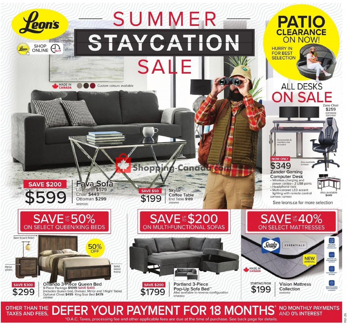 Flyer Leon's Furniture Canada - from Thursday June 3, 2021 to Wednesday June 23, 2021