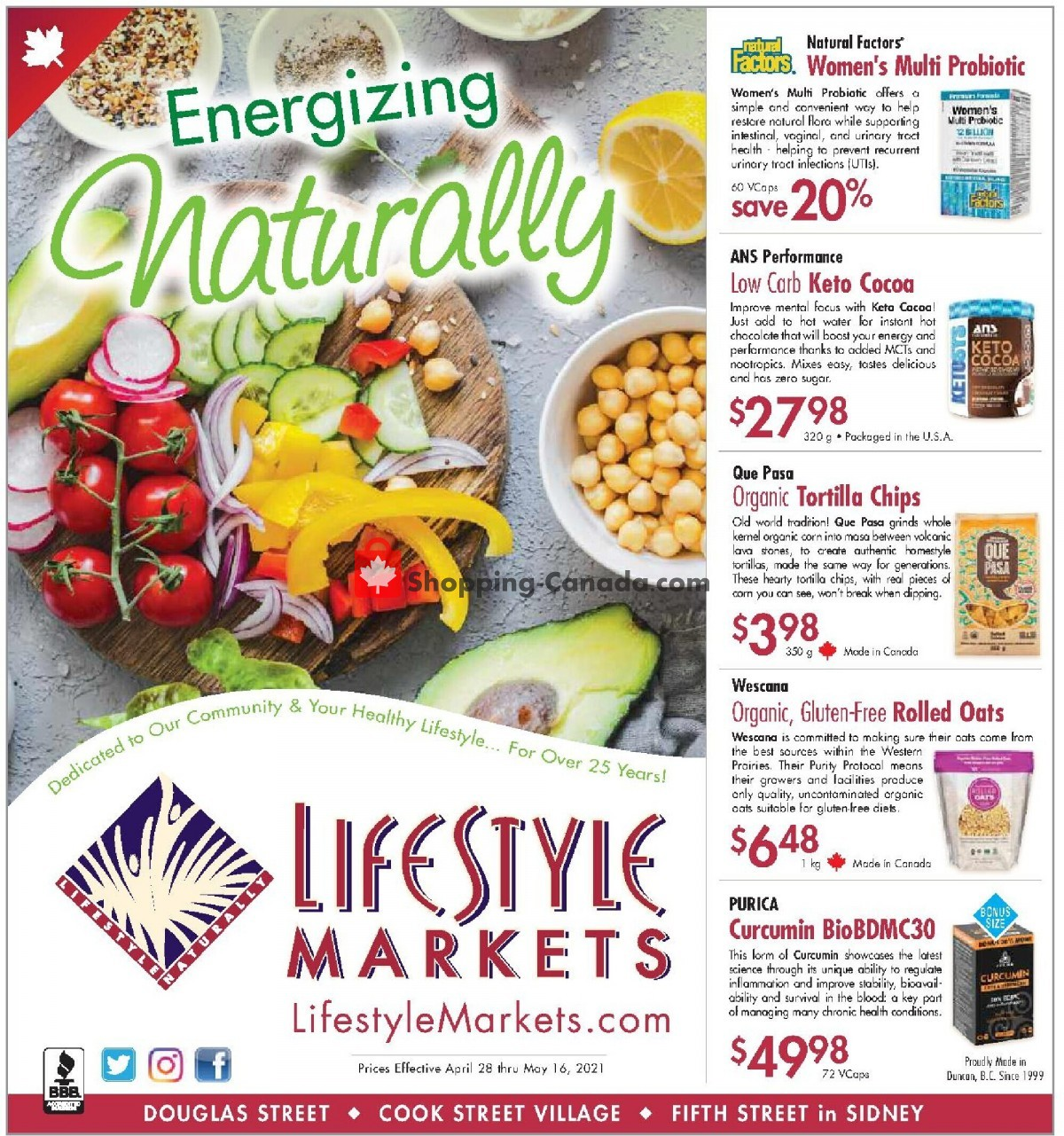 Flyer Lifestyle Markets Canada - from Wednesday April 28, 2021 to Sunday May 16, 2021