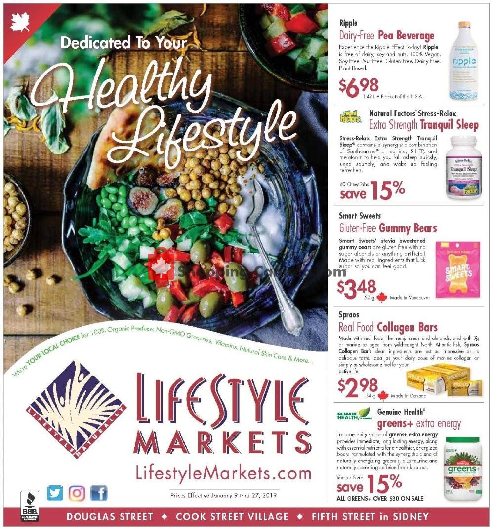 Flyer Lifestyle Markets Canada - from Wednesday January 9, 2019 to Sunday January 27, 2019