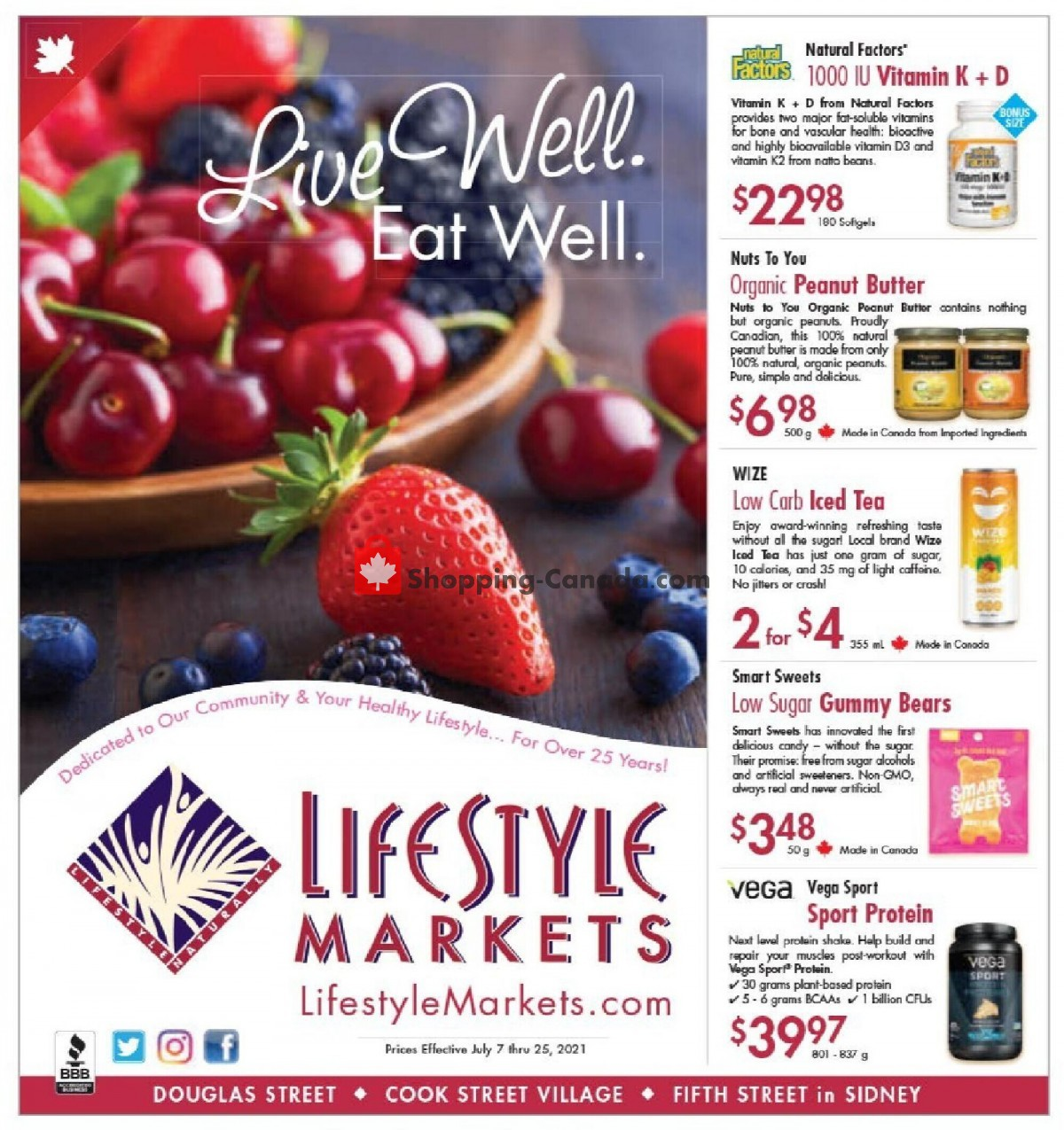 Flyer Lifestyle Markets Canada - from Wednesday July 7, 2021 to Sunday July 25, 2021