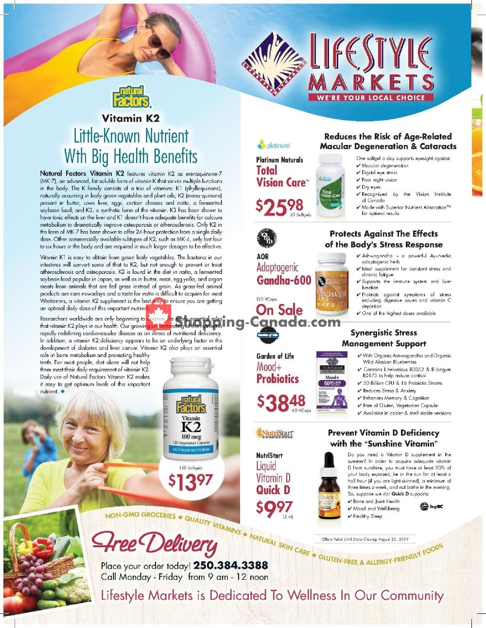Flyer Lifestyle Markets Canada - from Thursday July 25, 2019 to Sunday August 25, 2019