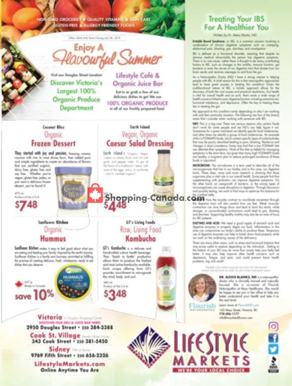 Flyer Lifestyle Markets Canada - from Thursday June 27, 2019 to Sunday July 28, 2019