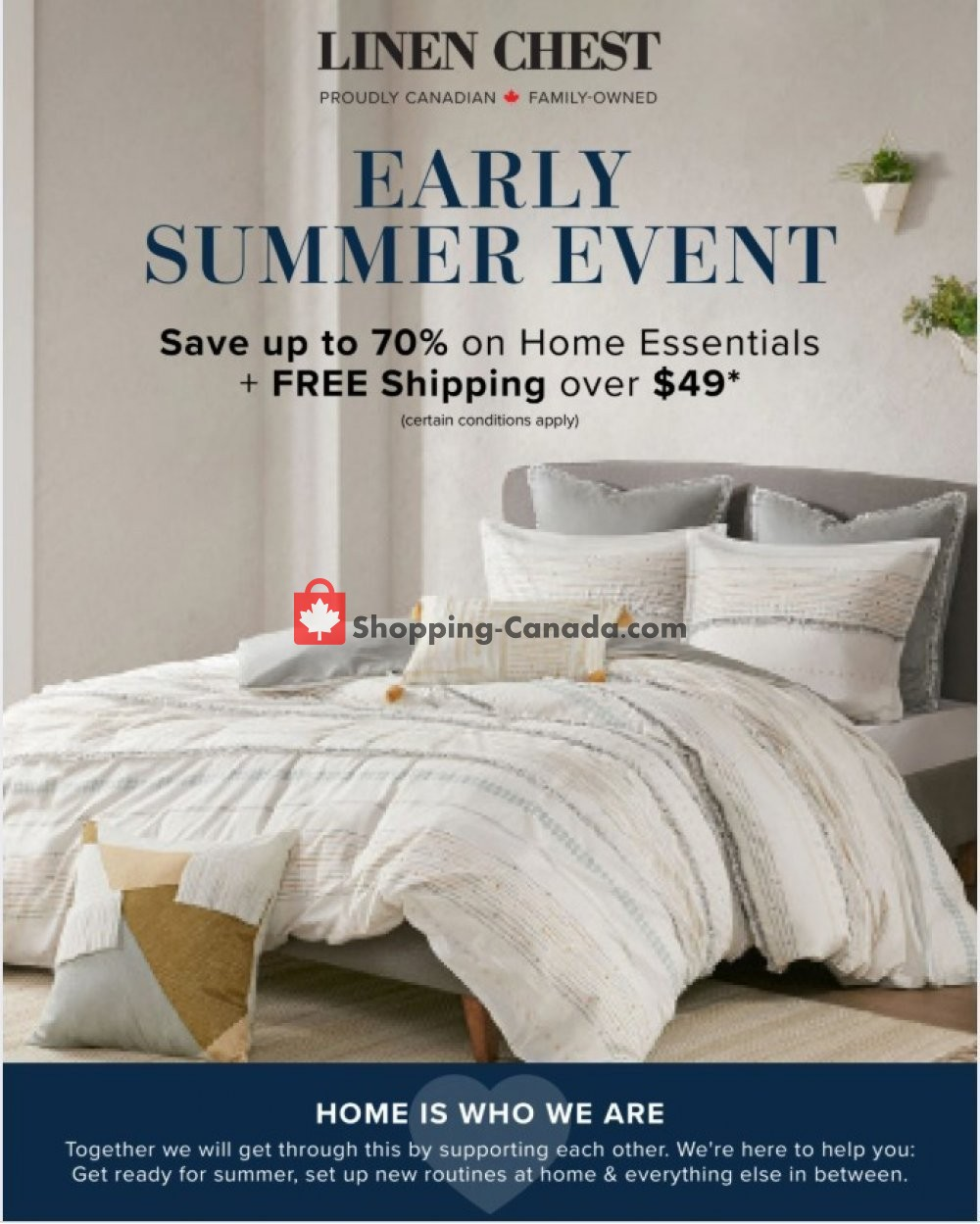 Flyer Linen Chest Canada - from Wednesday April 22, 2020 to Monday May 25, 2020