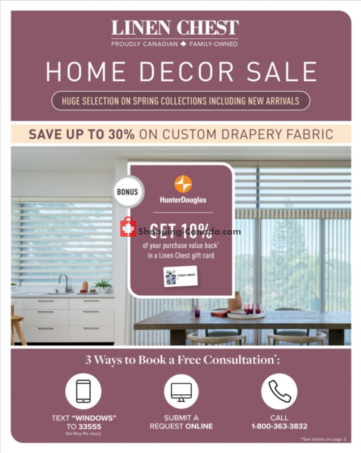 Flyer Linen Chest Canada - from Wednesday March 24, 2021 to Sunday April 18, 2021