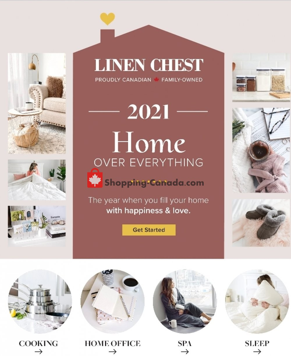 Flyer Linen Chest Canada - from Wednesday January 13, 2021 to Tuesday January 19, 2021