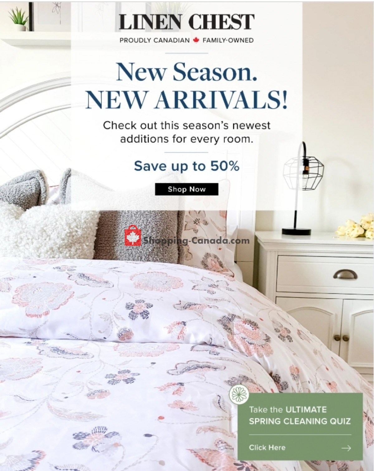 Flyer Linen Chest Canada - from Thursday April 29, 2021 to Wednesday May 12, 2021