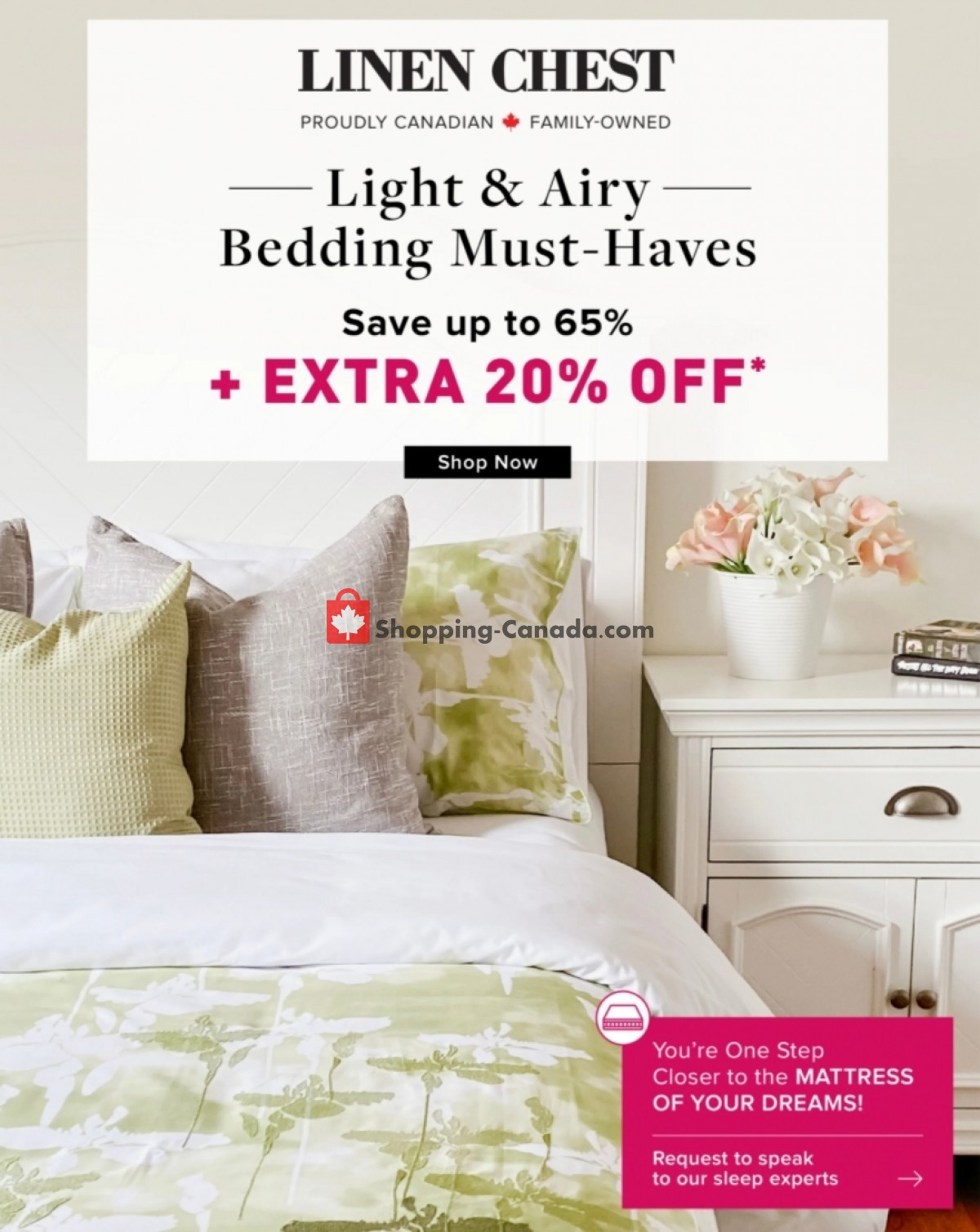 Flyer Linen Chest Canada - from Friday July 9, 2021 to Friday July 23, 2021