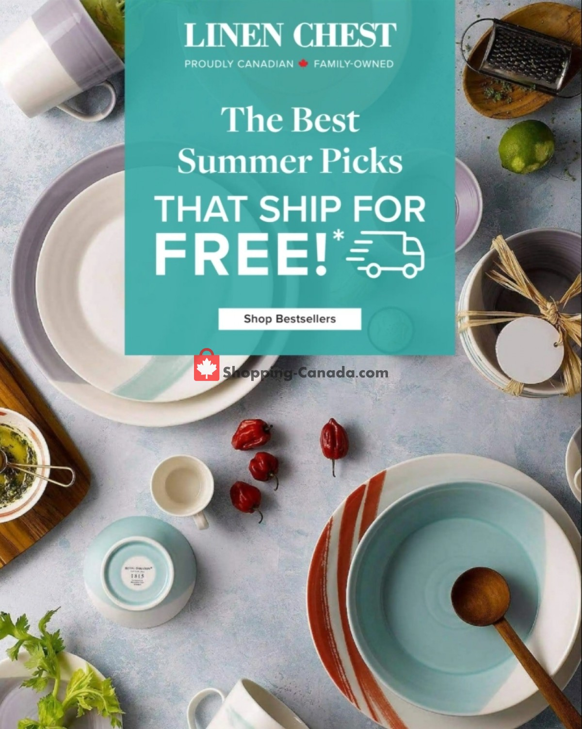 Flyer Linen Chest Canada - from Thursday July 15, 2021 to Friday July 30, 2021