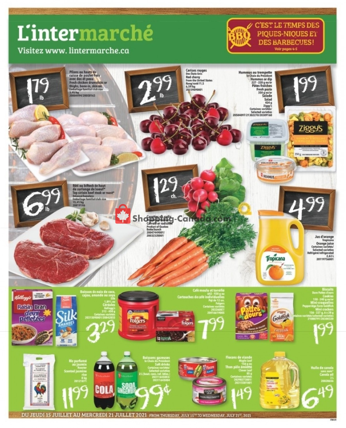 Flyer L'inter Marché Canada - from Thursday July 15, 2021 to Wednesday July 21, 2021