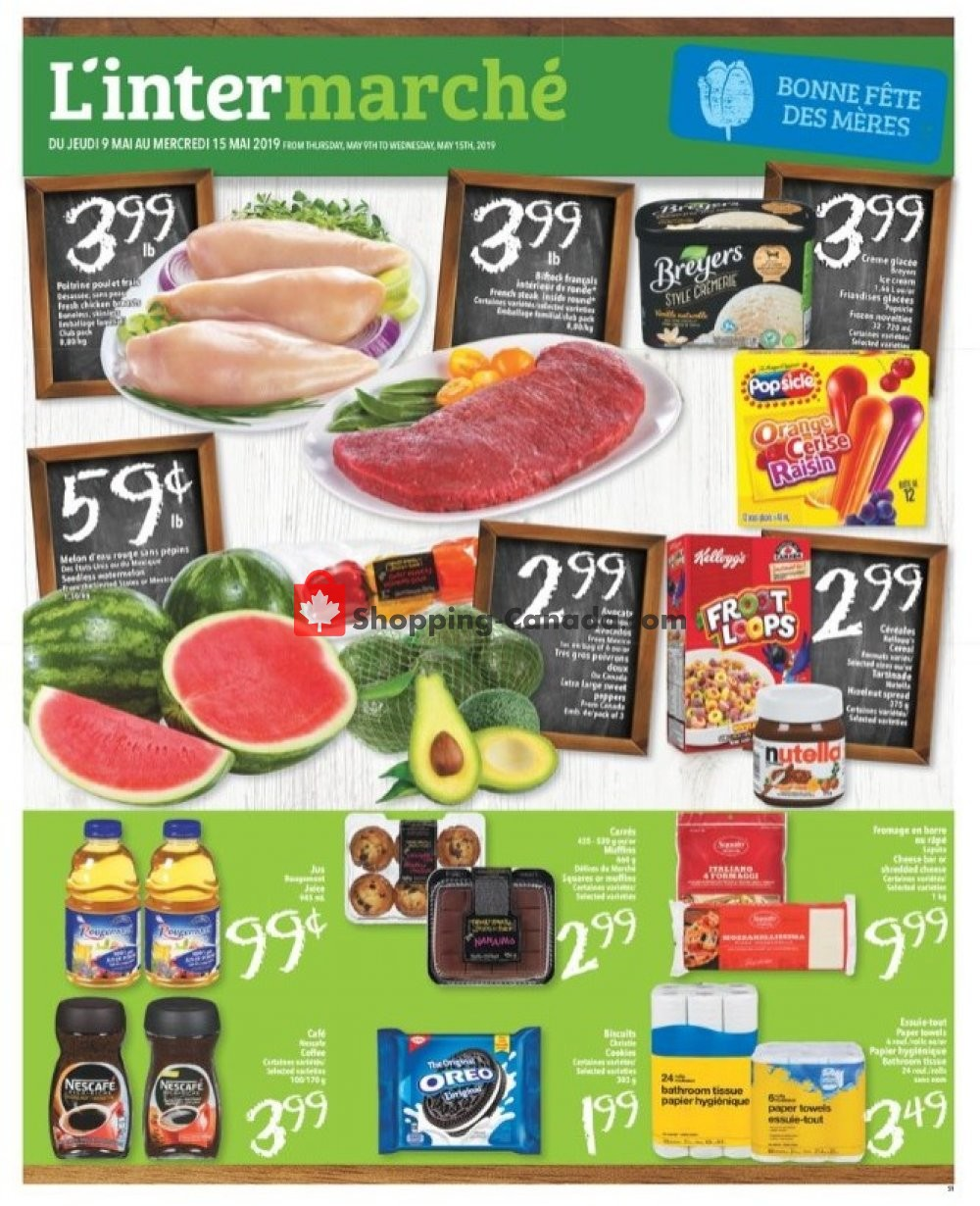 Flyer L'inter Marché Canada - from Thursday May 9, 2019 to Wednesday May 15, 2019