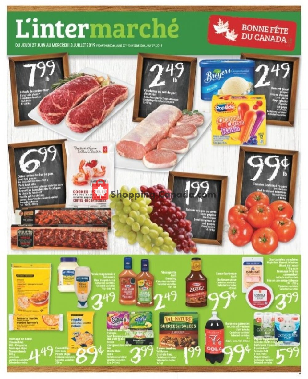 Flyer L'inter Marché Canada - from Thursday June 27, 2019 to Wednesday July 3, 2019