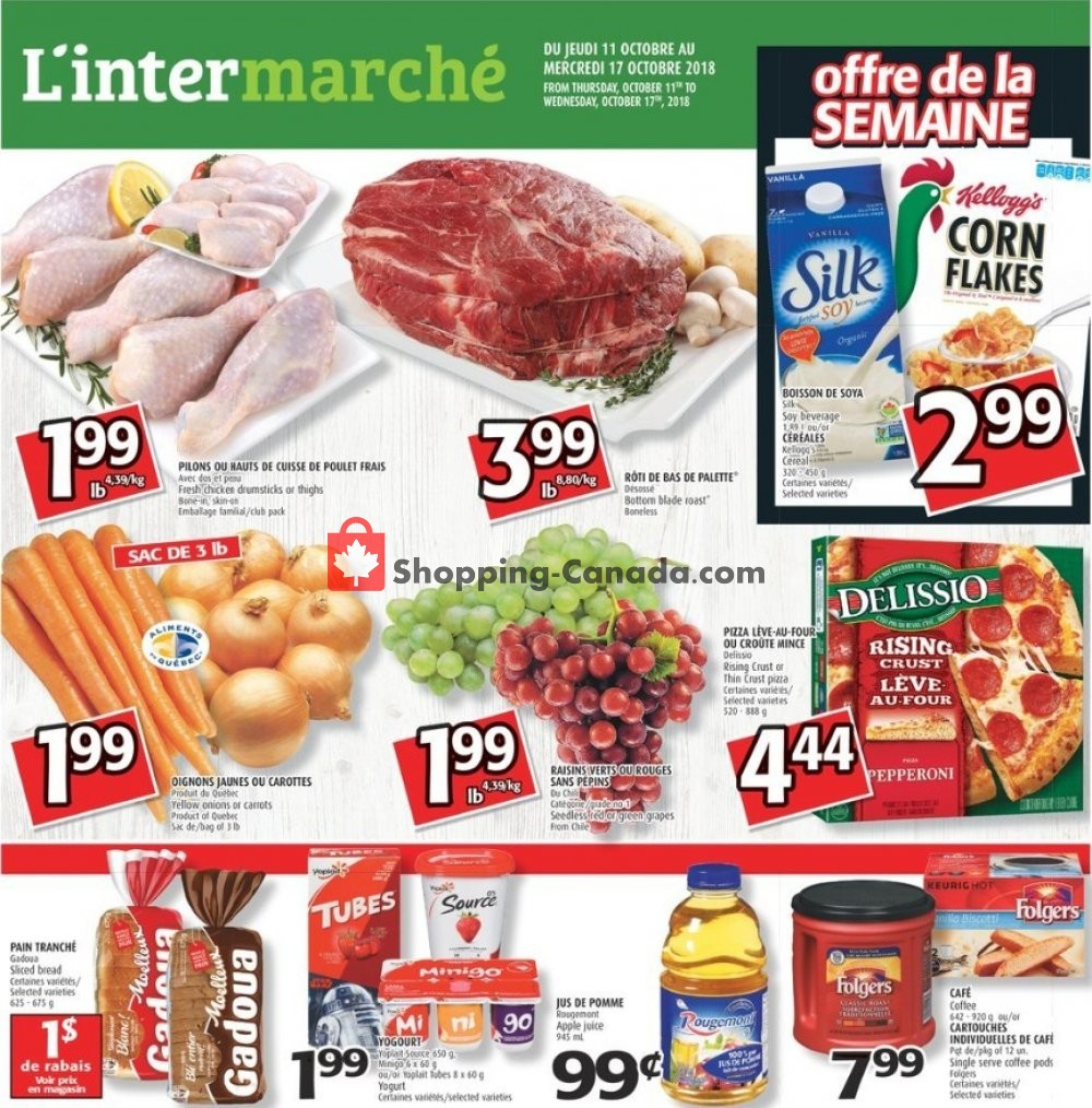 Flyer L'inter Marché Canada - from Thursday October 11, 2018 to Wednesday October 17, 2018