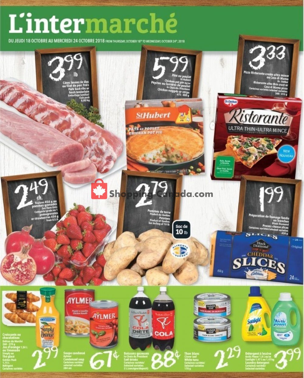Flyer L'inter Marché Canada - from Thursday October 18, 2018 to Wednesday October 24, 2018