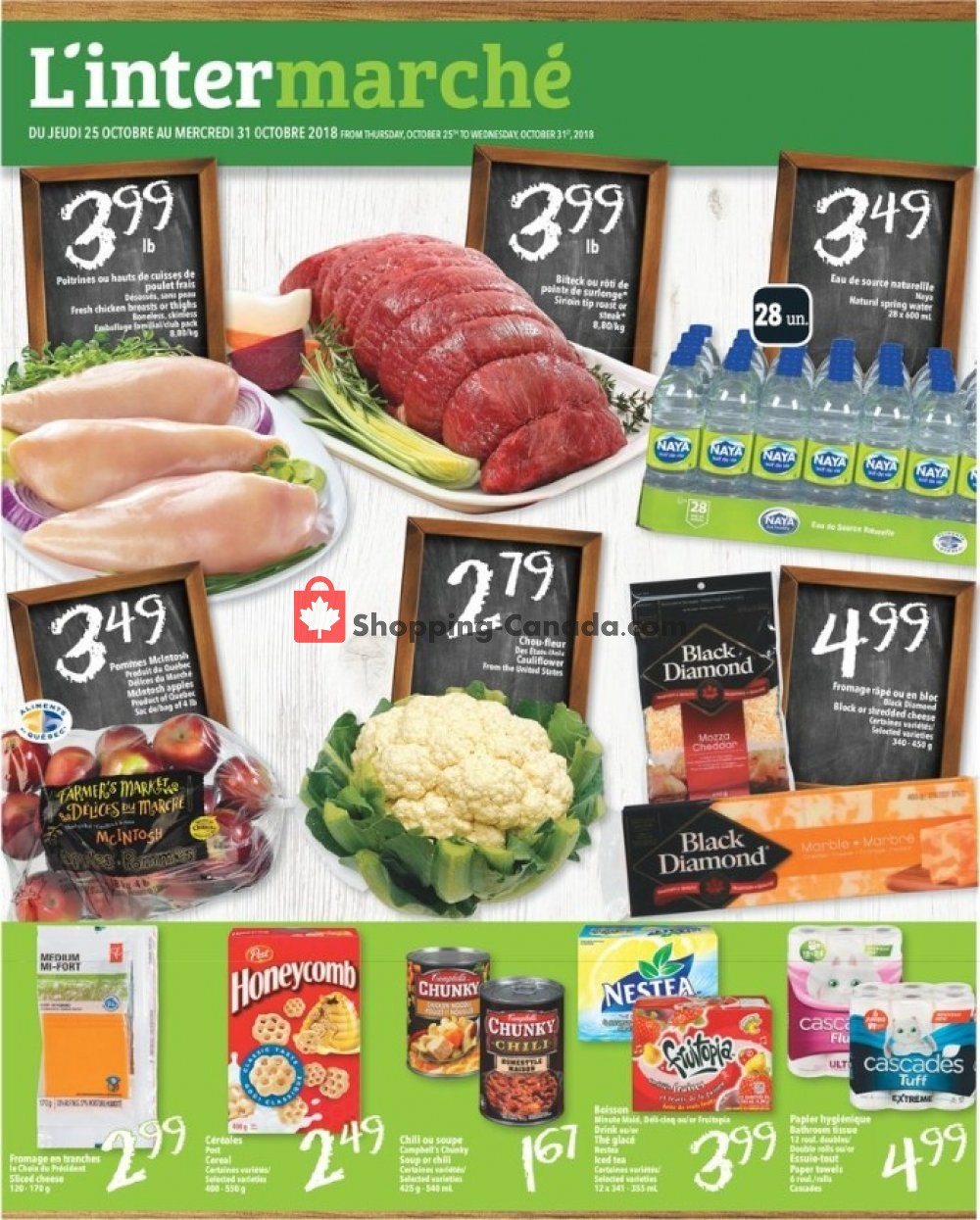 Flyer L'inter Marché Canada - from Thursday October 25, 2018 to Wednesday October 31, 2018