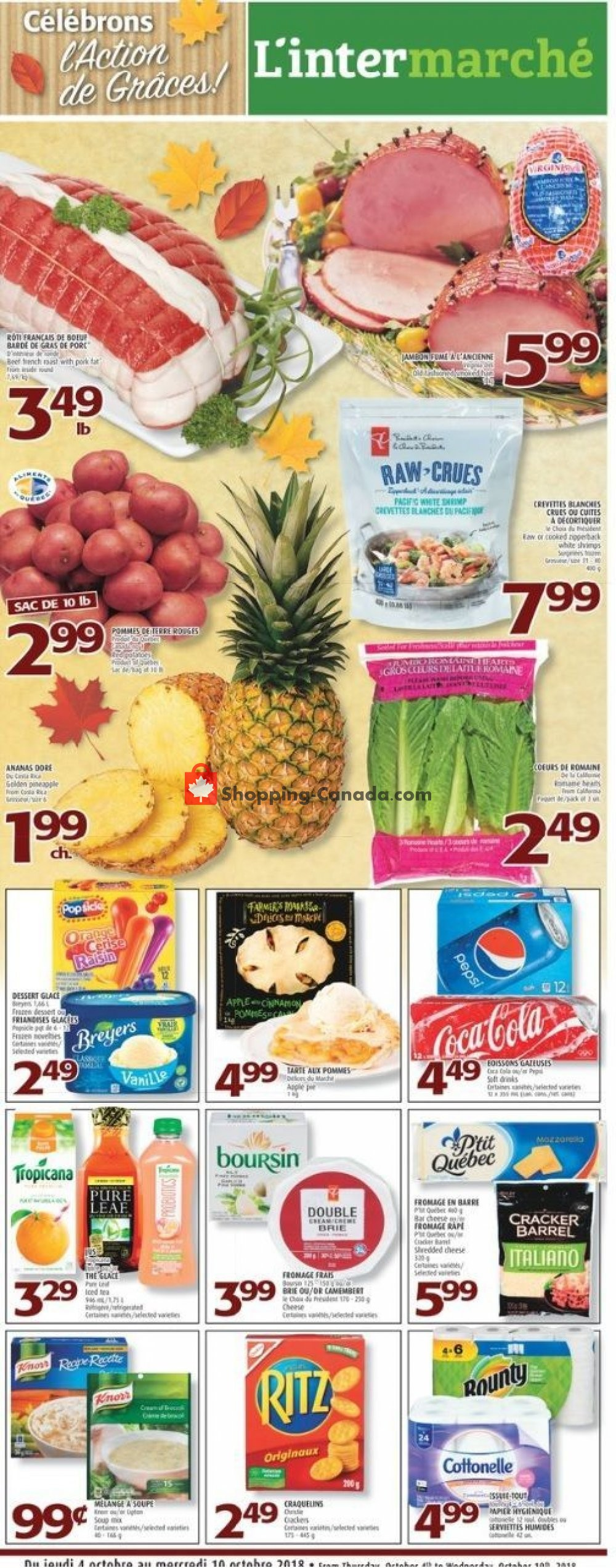 Flyer L'inter Marché Canada - from Thursday October 4, 2018 to Wednesday October 10, 2018