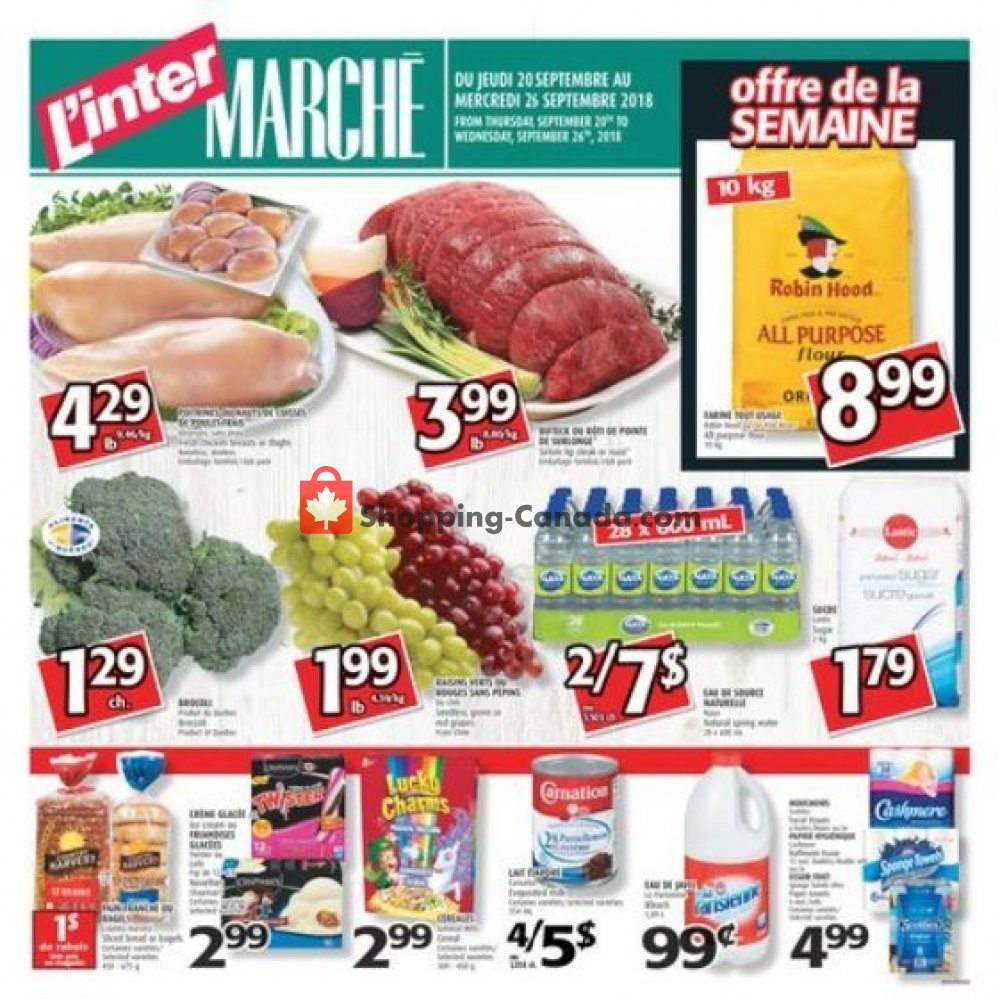 Flyer L'inter Marché Canada - from Thursday September 20, 2018 to Wednesday September 26, 2018