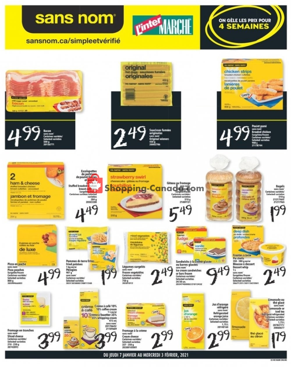 Flyer L'inter Marché Canada - from Thursday January 7, 2021 to Wednesday February 3, 2021