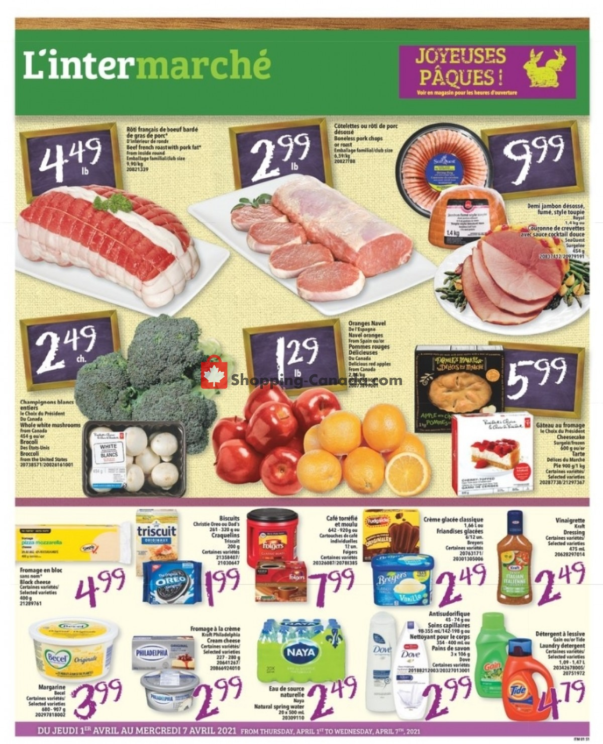 Flyer L'inter Marché Canada - from Thursday April 1, 2021 to Wednesday April 7, 2021