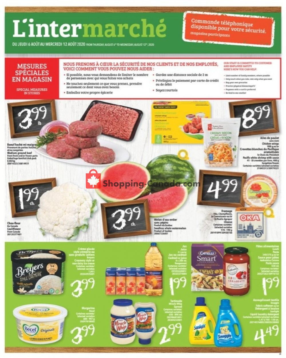 Flyer L'inter Marché Canada - from Thursday August 6, 2020 to Wednesday August 12, 2020