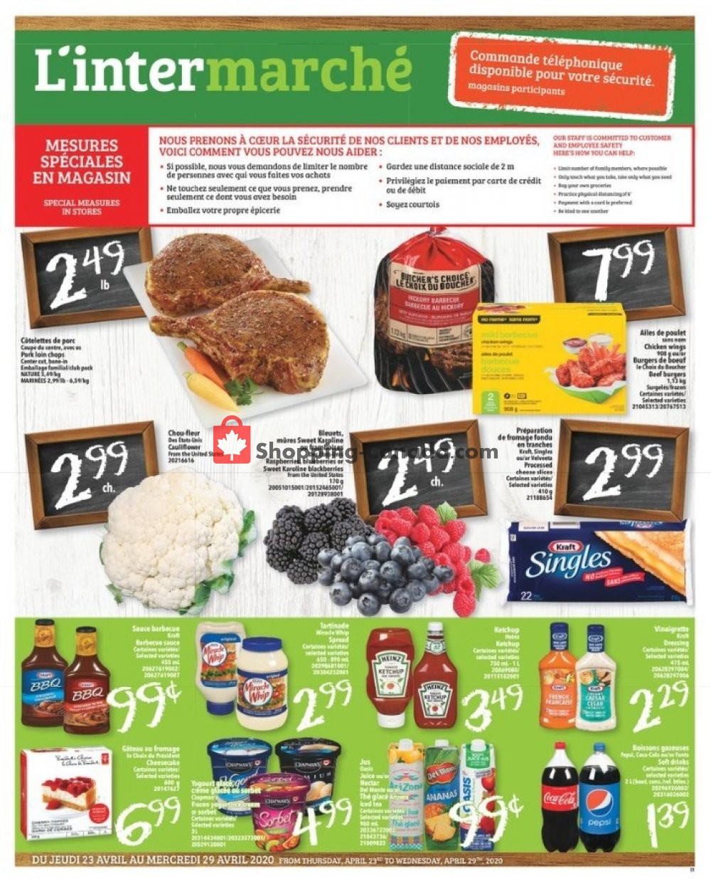 Flyer L'inter Marché Canada - from Thursday April 23, 2020 to Wednesday April 29, 2020