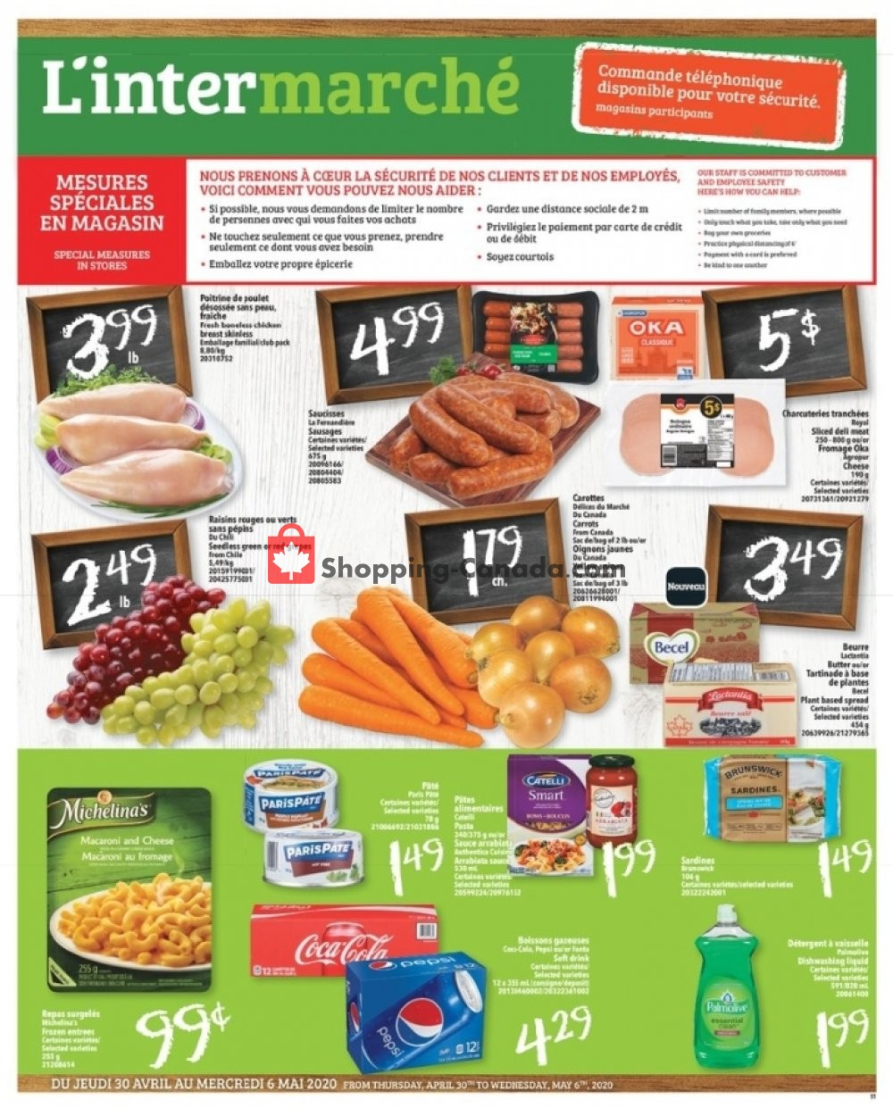 Flyer L'inter Marché Canada - from Thursday April 30, 2020 to Wednesday May 6, 2020