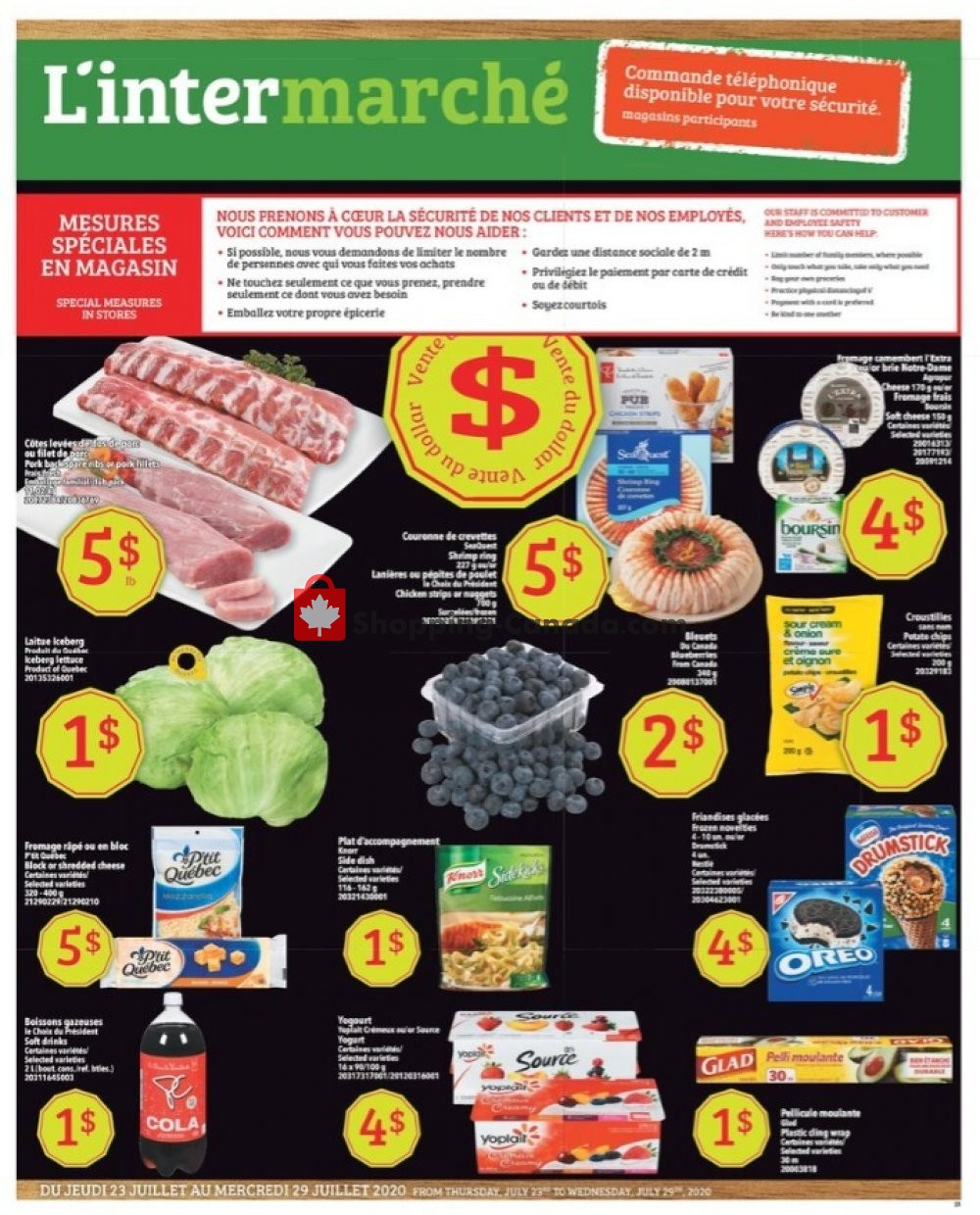 Flyer L'inter Marché Canada - from Thursday July 23, 2020 to Wednesday July 29, 2020